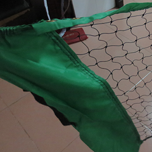 PE Badminton Net with Green Ban
